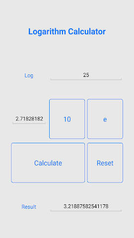 android Quick Logarithm Calculator Screenshot 2