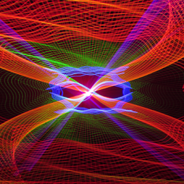 Laser light design by Jim Barton - Abstract Light Painting ( light painting, laser light, colorful, light design, laser light design, laser design, laser, laser light show, light, science )