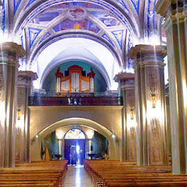 The organ by Radu Eftimie - Buildings & Architecture Places of Worship ( organ, general view, st john baptist's church, france, megève )