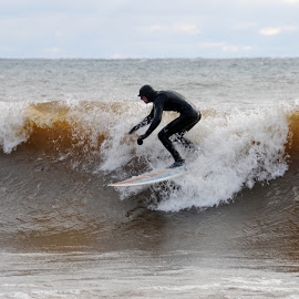 Surfing Lake Superior by Sandra Updyke - Sports & Fitness Surfing ( surfing, waves, north shore, lake superior, surfers )