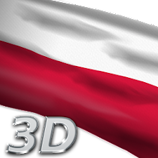 Poland Flag Live Wallpaper 3D