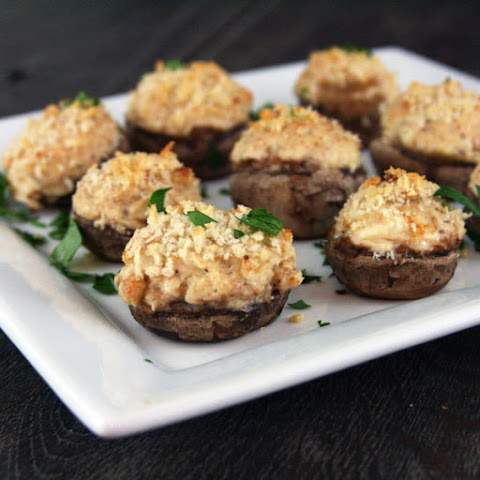 Cheesy Garlic and Onion Stuffed Mushrooms