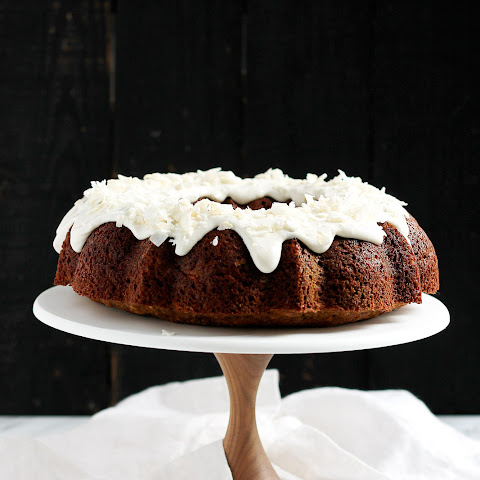 Orange Carrot Zucchini Cake with Coconut Cream Cheese Frosting