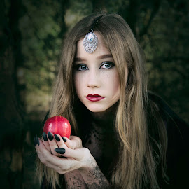 A Gift  by Jude Stewart - People Portraits of Women ( gothic, spooky, grimm, dark, portrait, fairytale )