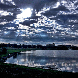 Sunrise by Jim Antonicello - Instagram & Mobile iPhone ( sunrise, pond, myrtle beach, south carolina )
