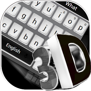 Download 3D Simple Black Keyboard Theme For PC Windows and Mac