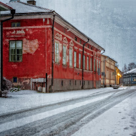 by Bojan Bilas - City,  Street & Park  Street Scenes ( urban, winter, snow, suomi, finland, long exposure, architecture, city, rauma )