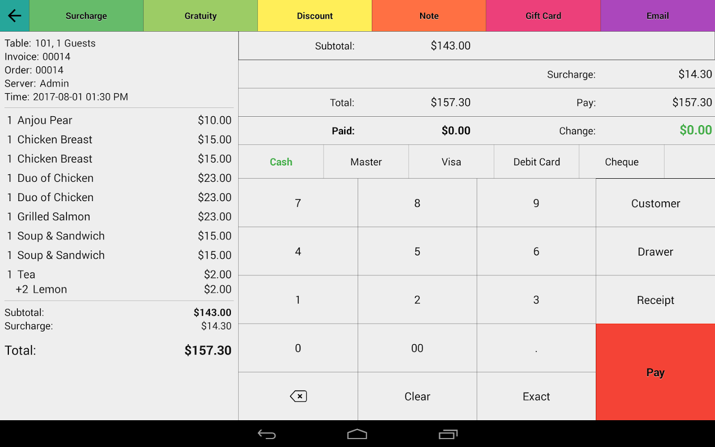 Restaurant Point of Sale | Cash Register - W&O POS Screenshot 10