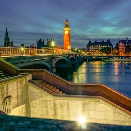 London by Haddouchi Tarik - City,  Street & Park  Night ( uk, europe, london, night, city )