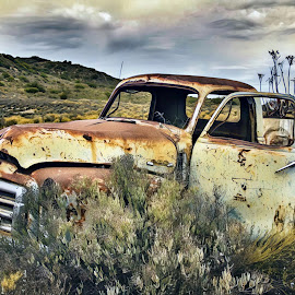 Forgotten by Andrea Paarman - Transportation Automobiles ( car, old, vintage, rust, forgotten )