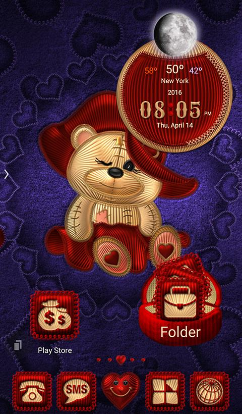 TSF NEXT TEDDY BEAR THEME Screenshot