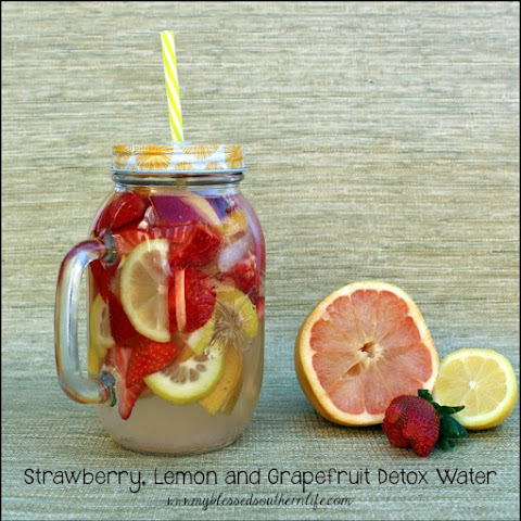 Strawberry, Lemon and Grapefruit Detox Water