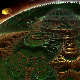 Green Hills by Rick Eskridge - Illustration Places ( jwildfire, places, mb3d, fractal, twisted brush )
