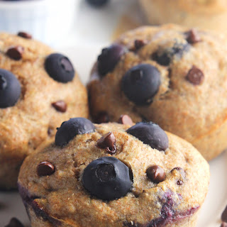 Chocolate Chip Blueberry Banana Muffins