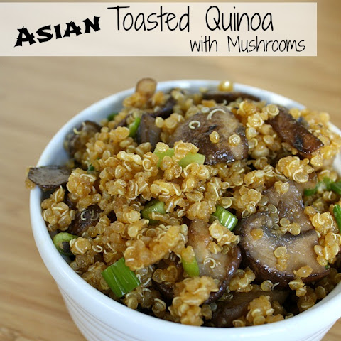 Asian Toasted Quinoa with Mushrooms