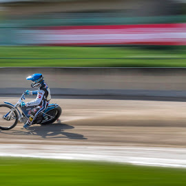 Speed-way by Stane Gortnar - Sports & Fitness Motorsports ( motorcycle, speedway, race, motosport, speed )