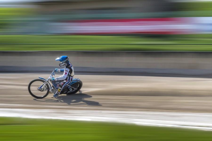 Speed-way by Stane Gortnar - Sports & Fitness Motorsports ( motorcycle, speedway, race, motosport, speed )