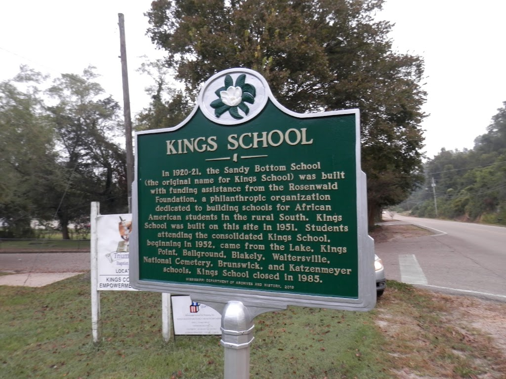 In 1920-21, the Sandy Bottom School (the original name for Kings School) was built with funding assistance from the Rosenwald Foundation, a philanthropic organization dedicated to building schools ...
