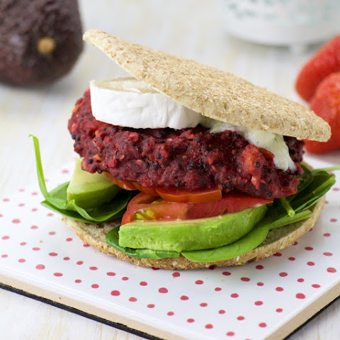 Red Beets And Quinoa Patties