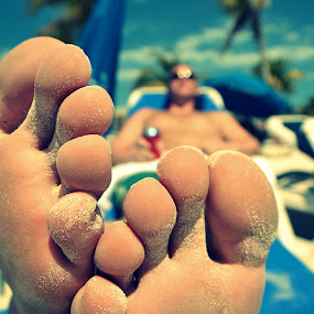 Relaxation by Lizz Condon - People Body Parts ( toe, foot, relax, feet, toes, beach )