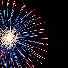 Varied by Savannah Eubanks - Abstract Fire & Fireworks ( firework, celebration, boom, explode, independence day, pyrotechnics, holiday,  )