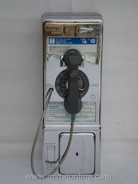 Single Slot Payphones - NY Tel Chrome 1C Westchester loc UP3 1