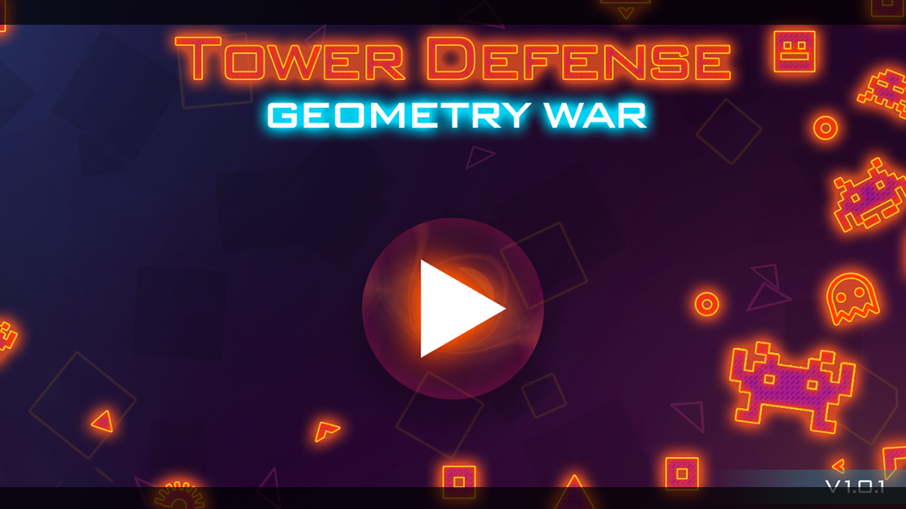 Tower Defense: Geometry War Screenshot