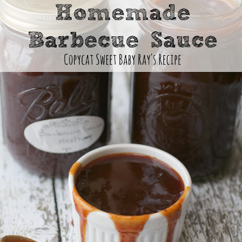 Homemade Barbecue Sauce Recipe | Copycat Sweet Baby Ray's BBQ Sauce!