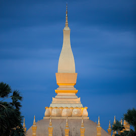 Golden Stupa by Talbot Brooks - Buildings & Architecture Statues & Monuments ( laos, lao pdr, great golden stupa, golden stupa, lao, stupa, vientiane )