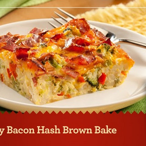 Cheesy Bacon Hash Brown Bake