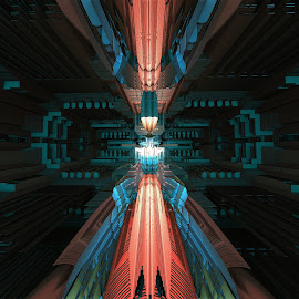 Jumping to a New Dimensionality by Ricky Jarnagin - Illustration Abstract & Patterns ( mandelbulb 3d, abstract art, fractal, geometric, abstract )