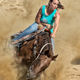 Barrel Rider 5 by Joe Saladino - Sports & Fitness Other Sports ( girl, barrel race, horse, racer, competition )