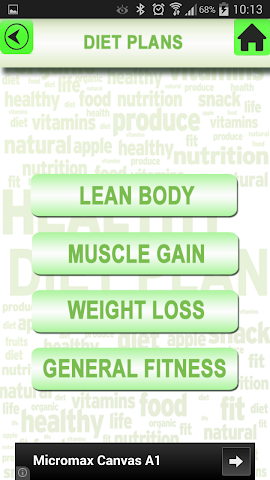 android Health Diet Nutrition Plan Screenshot 2