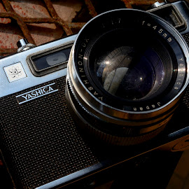 Film Camera by Jeremy Mendoza - Artistic Objects Antiques ( old, stilllife, yashica, vintage, camera, filmcamera, antique )