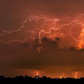 Lightning @Segar garden  by Lim Wee - Landscapes Weather