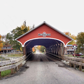Covered Bridge by Margie Troyer - Buildings & Architecture Bridges & Suspended Structures
