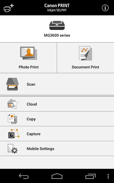 Canon PRINT Inkjet/SELPHY screenshots