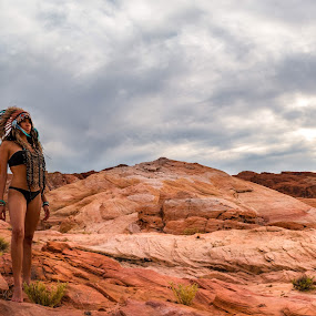 Valley of fire Indian theme by Patrick Miyoshi - Landscapes Deserts ( valley of fire indian landscape desertscape redrock,  )