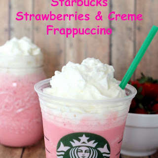 Copycat Starbucks Strawberries and Creme Frappuccino