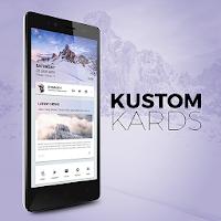 Kustom Kards Theme for KLWP For PC
