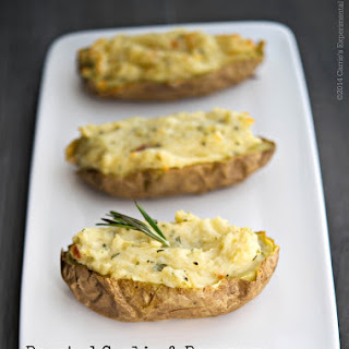 Roasted Garlic & Rosemary Twice Baked Potatoes