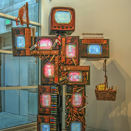 TV Man by Jackie Eatinger - Artistic Objects Other Objects