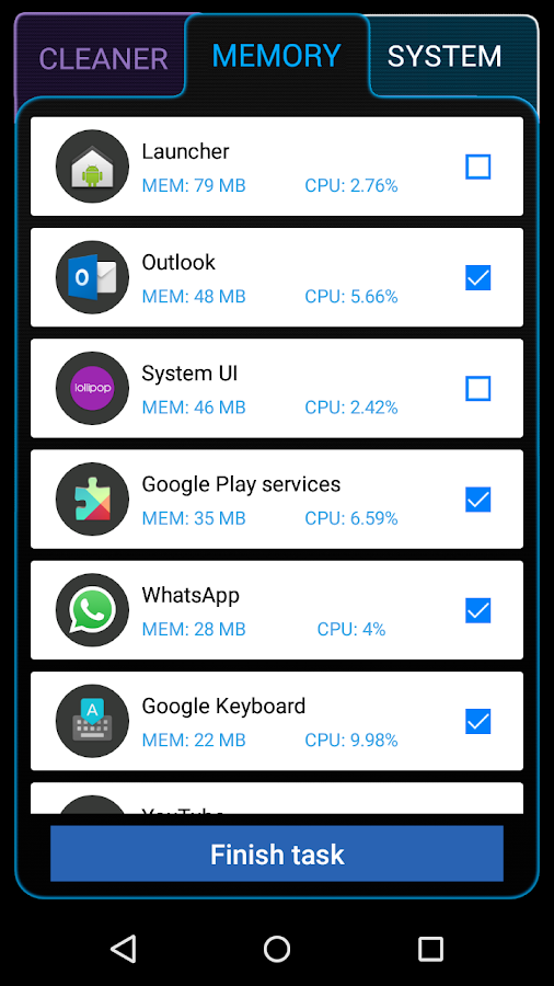 Ancleaner Pro, Android cleaner Screenshot 1