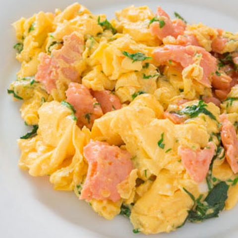 Smoked Salmon and Herb Scrambled Eggs