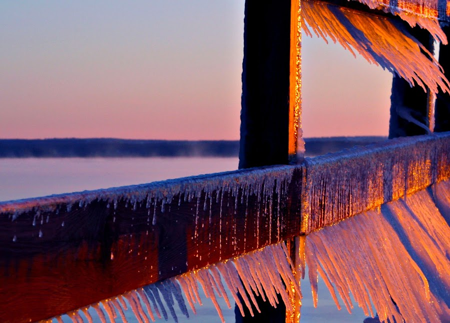 sunrise ice by David Pratt - Artistic Objects Other Objects ( up close, winter, cold, color, ice, sunrise, objects )