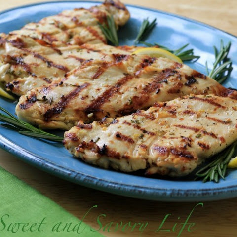 Rosemary-Lemon Marinated Grilled Chicken Breasts