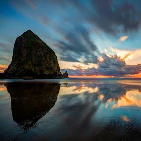 Coastal Colors by Ken Smith - Landscapes Sunsets & Sunrises ( sunset, cannon beach, oregon coast, ocean, landscape )