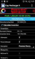 Screenshot of Industry Calculator for EVE