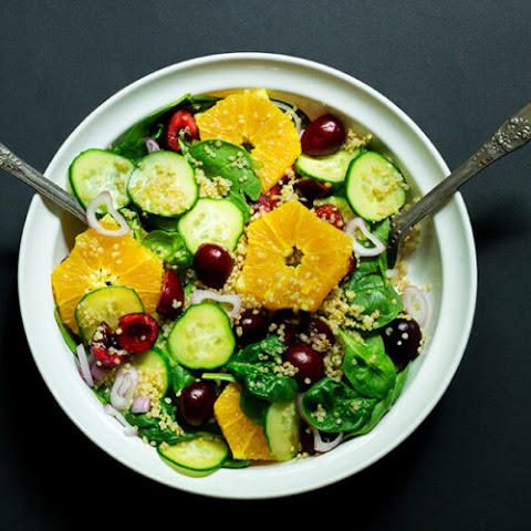 Orange Cherry Quinoa Salad