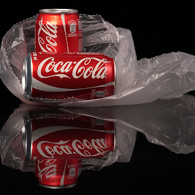 Sodas by Cristobal Garciaferro Rubio - Artistic Objects Still Life ( sodas, reflection, can, coke, reflections )